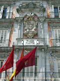 Plaza Mayor in Madrid. Plaza Mayor building in Madrid, Spain stock photos