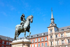Plaza Mayor in Madrid Stock Image