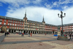 Plaza Mayor in Madrid Stock Photography