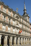 Plaza Mayor Madrid. Painting adorning the section of the Plaza Mayor known as Casa Panaderia Royalty Free Stock Photo