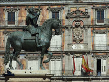 Plaza Mayor of Madrid Royalty Free Stock Photos