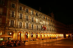 Plaza Mayor in Madrid by night Royalty Free Stock Image