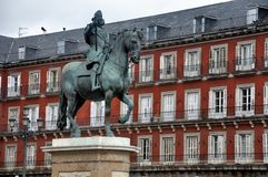 Plaza Mayor, Madrid Royalty Free Stock Photos