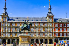 Plaza Mayor in Madrid. Spain Royalty Free Stock Images