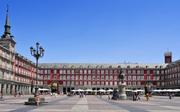 Plaza Mayor in Madrid, Spain Royalty Free Stock Image