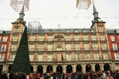 Plaza Mayor in Madrid, Spain Stock Image