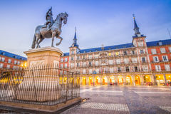 Plaza Mayor of Madrid. The Plaza Mayor of Madrid, Spain, is the central historic square of the city Royalty Free Stock Images