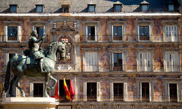 Plaza Mayor, Madrid, Spain. This image shows the Plaza Mayor, in Madrid, Spain royalty free stock photos