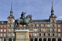 Plaza Mayor, Madrid, Spain royalty free stock photography