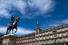 Plaza Mayor Madrid. Spain. Royalty Free Stock Photos