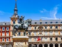 Plaza Mayor in Madrid. Spain Royalty Free Stock Photos