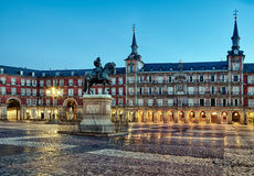 Plaza Mayor in Madrid. In Spain in spring stock photography
