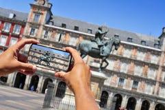 Plaza Mayor in Madrid, Spain Royalty Free Stock Photo