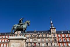 Plaza Mayor in Madrid. View of the Plaza Mayor in Madrid Stock Photos