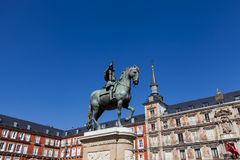 Plaza Mayor in Madrid Stock Images