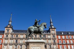 Plaza Mayor in Madrid. View of the Plaza Mayor in Madrid Royalty Free Stock Photo