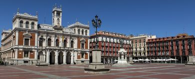 Plaza Mayor Major Square of Valladolid, Spain. Plaza Mayor Major Square of Valladolid, Spain stock image