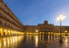 Plaza Mayor  in  mornig. Salamanca Stock Photos