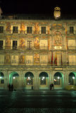 Plaza Mayor, Night stock image