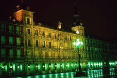 Plaza Mayor by night, Madrid Royalty Free Stock Images