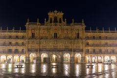 Plaza Mayor  in night. Salamanca Stock Photography