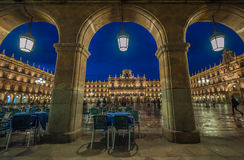 Plaza Mayor at night, Salamanca, Spain Royalty Free Stock Images