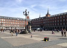 Plaza Mayor. One of the main points of interest in Madrid, Spain Royalty Free Stock Photos