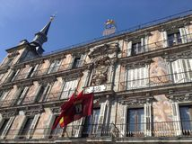 Plaza Mayor. One of the main points of interest for tourists in Madrid, Spain Royalty Free Stock Photo