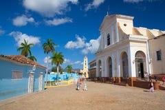 Plaza Mayor - Principal square of Trinidad, Cuba Stock Image
