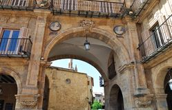 The Plaza Mayor of Salamanca Stock Photography