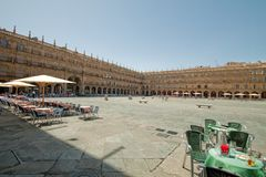 The Plaza Mayor of Salamanca Stock Photography
