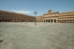 The Plaza Mayor of Salamanca Stock Image