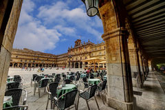 Plaza Mayor of Salamanca. City Hall of Salamanca in the Plaza Mayor Royalty Free Stock Photos