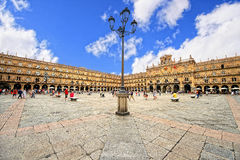Plaza Mayor of Salamanca. City Hall of Salamanca in the Plaza Mayor royalty free stock photos