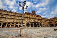 Plaza Mayor of Salamanca. City Hall of Salamanca in the Plaza Mayor Stock Photo