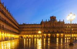 Plaza Mayor at Salamanca in mornig Stock Images