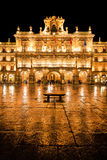 Plaza Mayor in Salamanca at night Royalty Free Stock Photography
