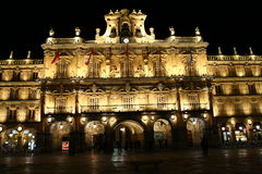 Plaza Mayor in Salamanca at night Royalty Free Stock Image