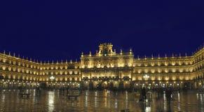 Plaza mayor, Salamanca, Spain. At night with long exposure Stock Photography