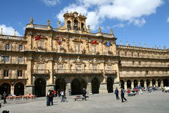 Plaza Mayor in Salamanca Stock Photography