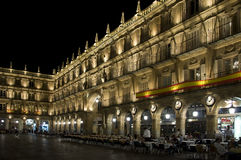Plaza Mayor, Salamanca, Spain during the night Stock Photography