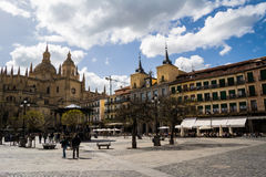 Plaza Mayor, Segovia, Spain Royalty Free Stock Photo