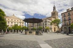 Plaza Mayor of Segovia, Spain Stock Image