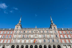 The Plaza Mayor square in Madrid, Spain. Royalty Free Stock Photo