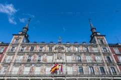 The Plaza Mayor square in Madrid, Spain. Stock Photos
