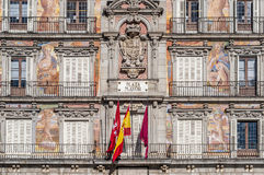 The Plaza Mayor square in Madrid, Spain. Stock Images