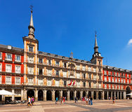 Plaza Mayor in sunny day. Madrid, Spain Royalty Free Stock Photography