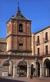 Plaza Mayor Tower Cityscape Castile Spain Royalty Free Stock Photography