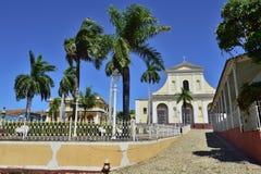 The Plaza Mayor in Trinidad, Cuba Stock Photos