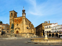 Plaza Mayor. Trujillo, Caceres Stock Images